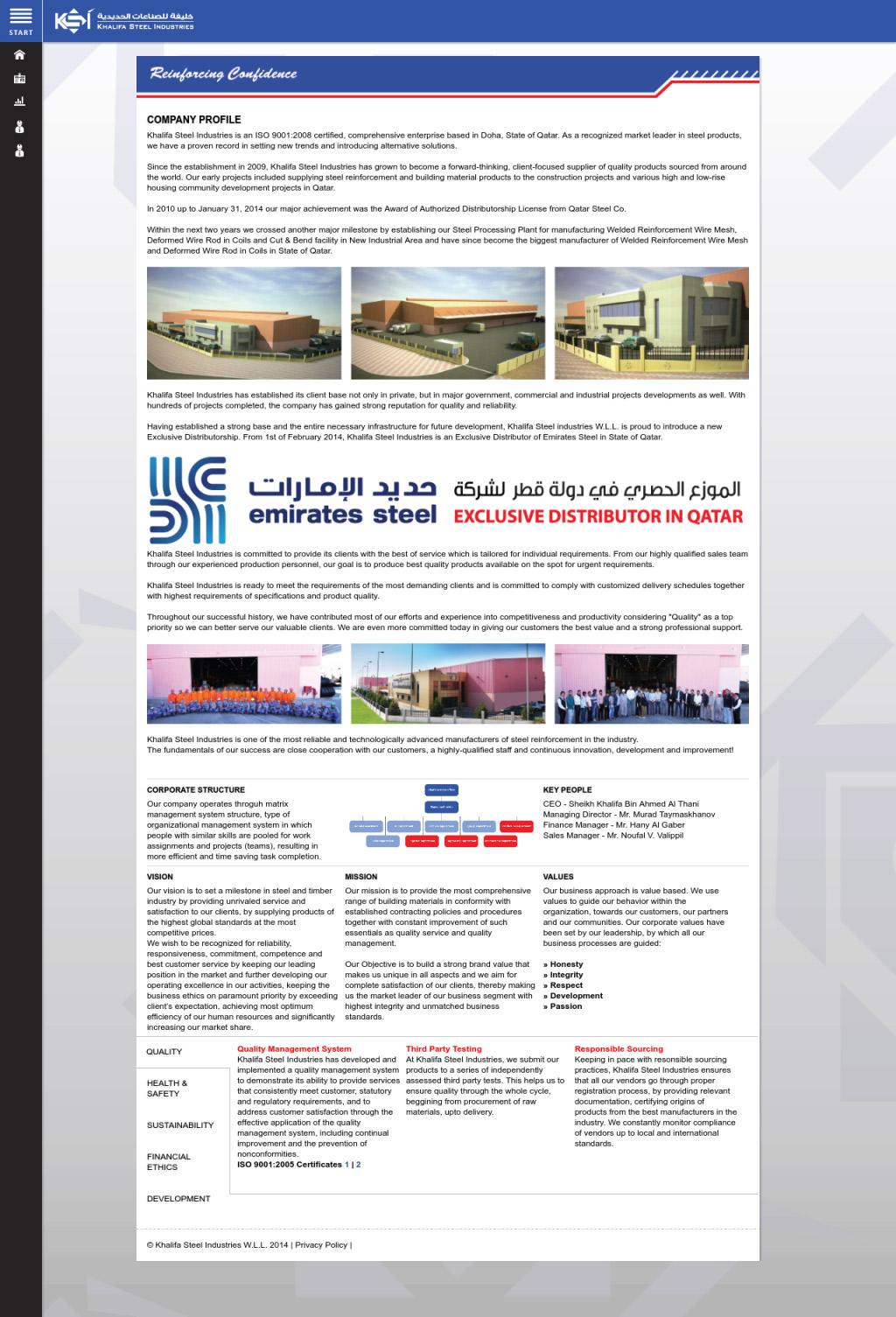 Khalifa Steel – SHITECH   Best Web Design Agency, Web